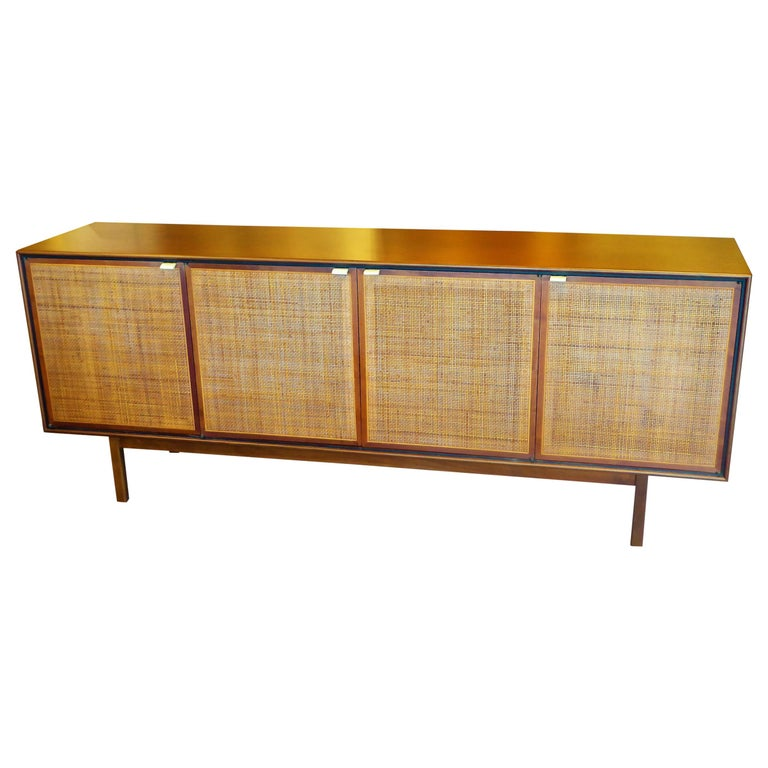 Early 1960s Founders Furniture Florence Knoll Style Walnut Credenza For Sale