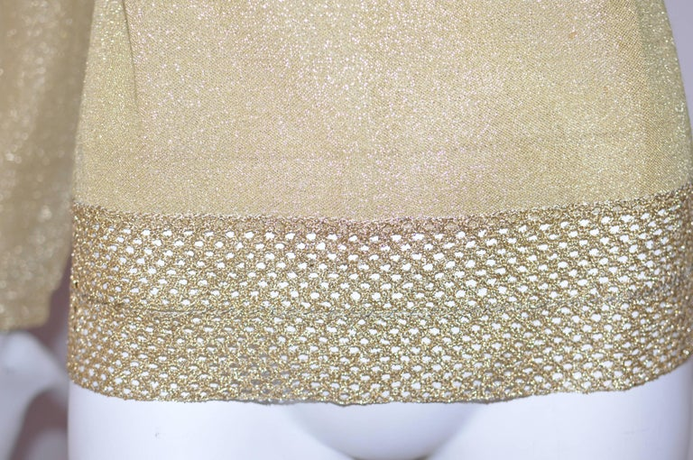 Brown Early 1970s Leonard Paris Gold Lame Top For Sale