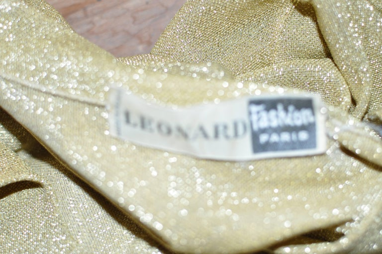 Early 1970s Leonard Paris Gold Lame Top For Sale 1