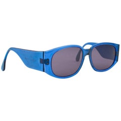 Early 1980s Sanford Hutton Colors of Optics Blue Sunglasses