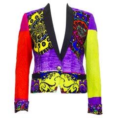 Early 1990s Gianni Versace Baroque Colour Block Tuxedo Jacket