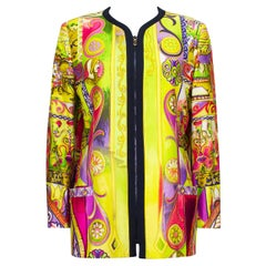Early 1990s Gianni Versace Couture Baroque Jacket with Zipper