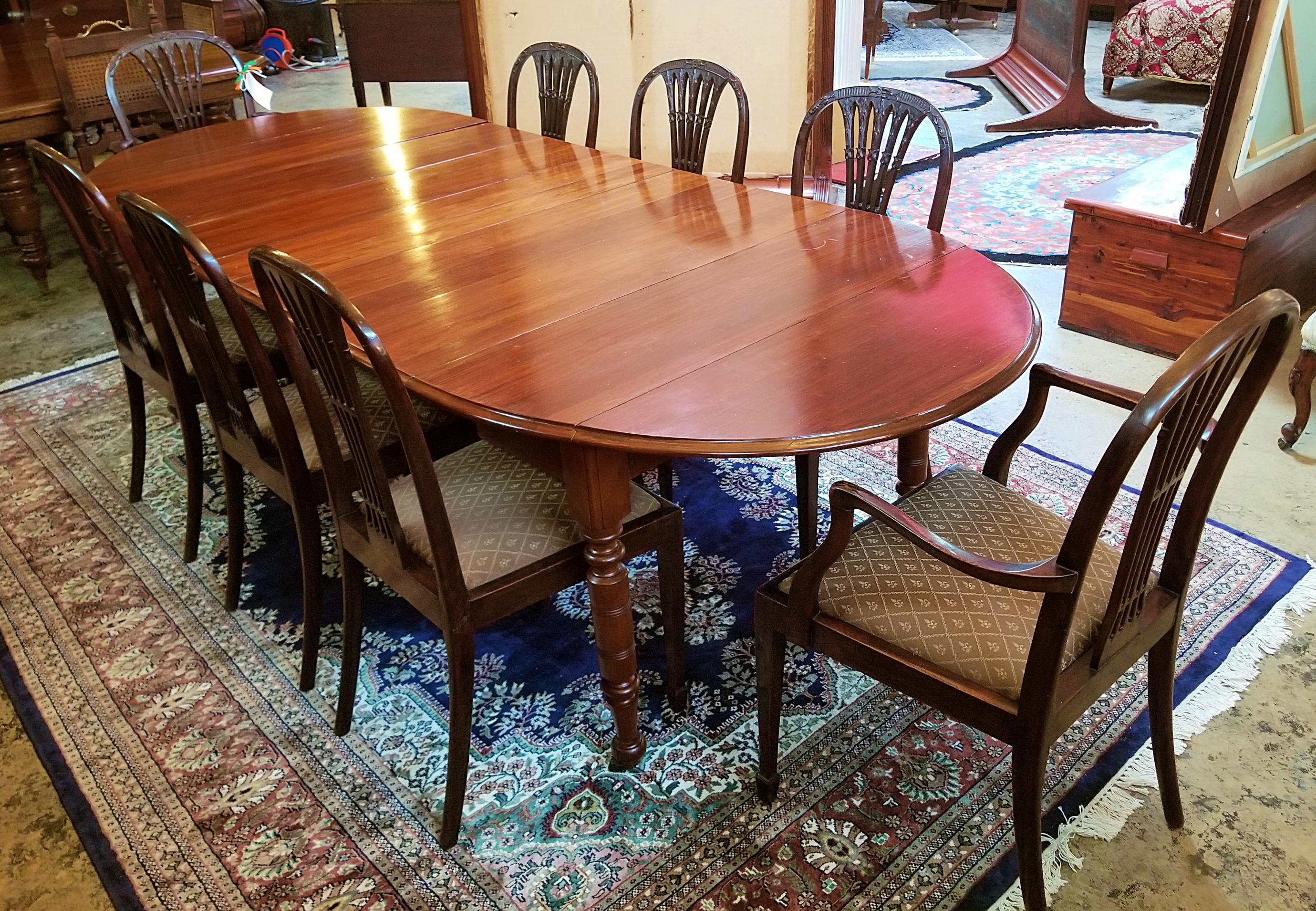 Early 19th Century American Cherry Extendable Dining Table For Sale At  1stdibs