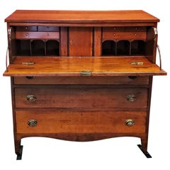 American Hepplewhite Virginian Secretary Chest with Provenance