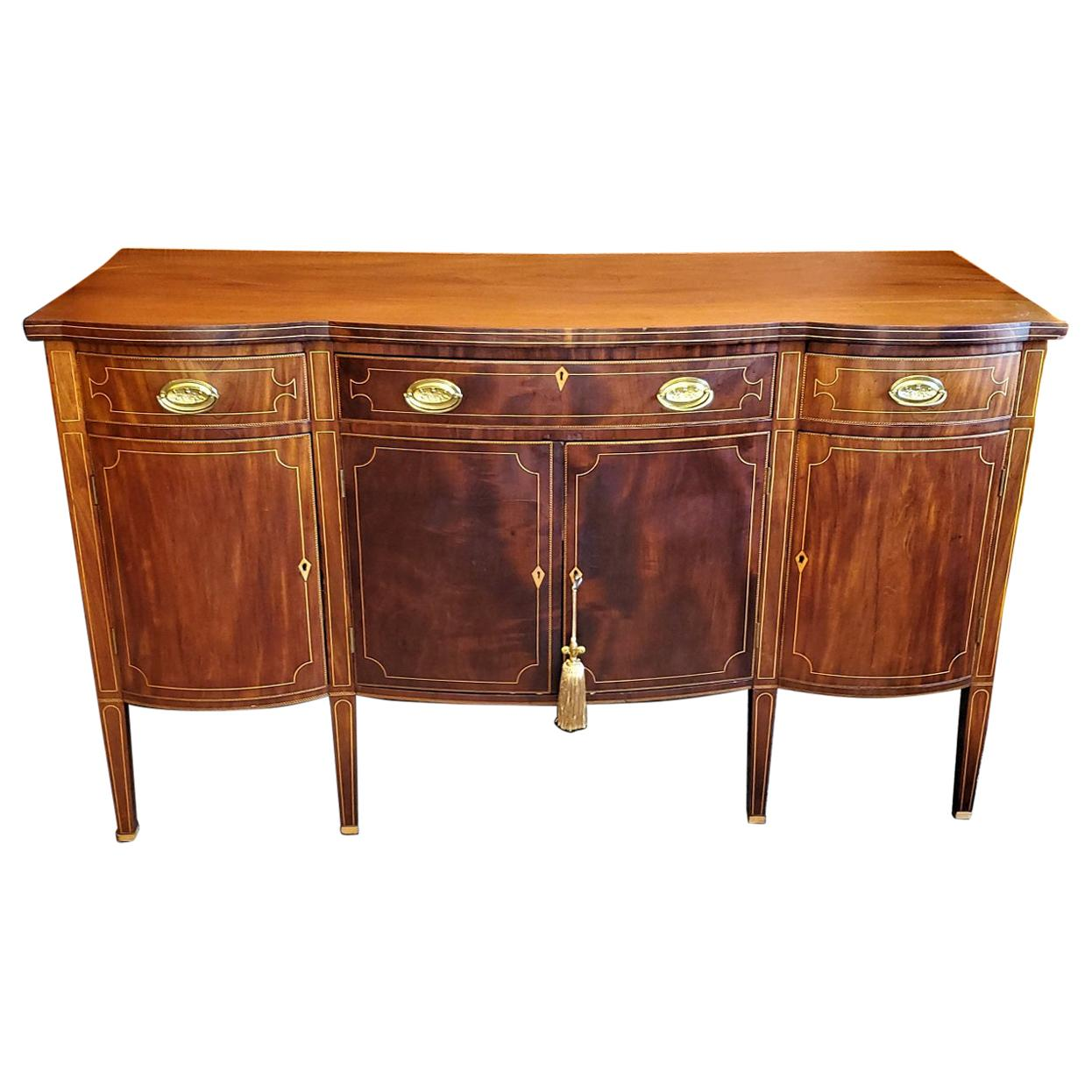 Early 19th Century American Sheraton Sideboard Attributable to Duncan Phyfe