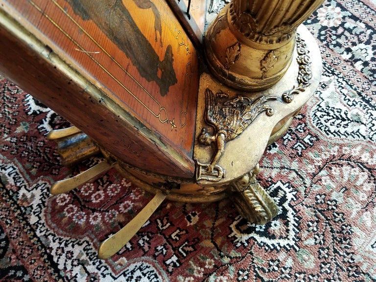 Mid 19th Century T. Dodd & Sons London Harp For Sale 11