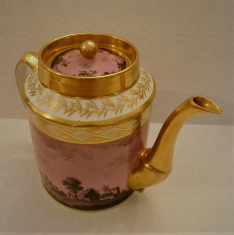 Early 19th Century Stone Coquerel Legros Paris Porcelain, Coffee, Tea and Sugar For Sale 3