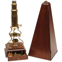 Early 19th Century Abrahams of Bath Culpepper Brass Microscope