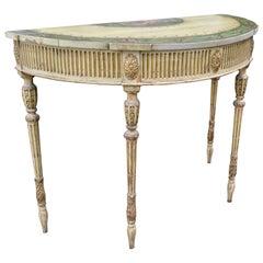 Late 18thC Adam Period Demi-lune Console Table