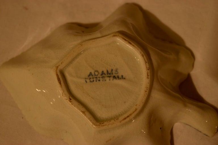 English Early 19th Century Adams Leaf Dish For Sale