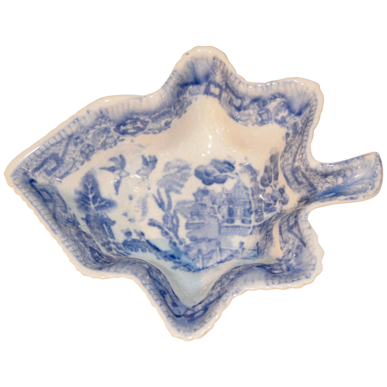 Early 19th Century Adams Leaf Dish