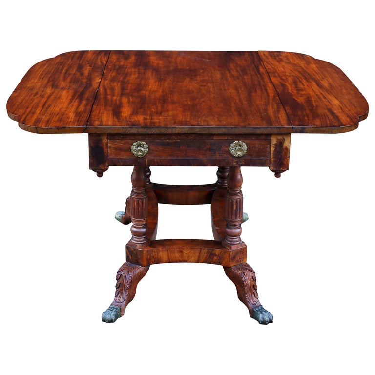 Dining Room Tables Nyc: Early 19th Century American Federal New York Mahogany Drop