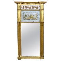 Early 19th Century American Giltwood Églomisé Mirror