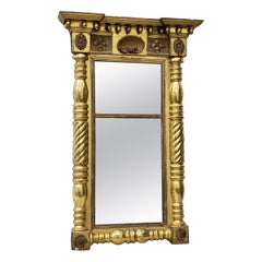 Early 19th Century American Hand Carved and Gilded Mirror, circa 1820s