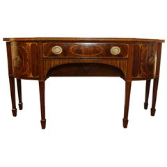 Early 19th Century American Hepplewhite style Sideboard Matched Mahogany Veneers