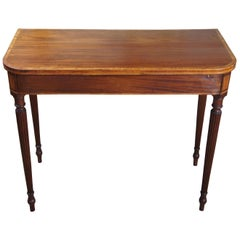 Early 19th Century American Mahogany Sheraton Console Game Table Hall Entryway