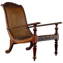 Early 19th Century Anglo-Indian Padouk Wood Armchair, circa 1830