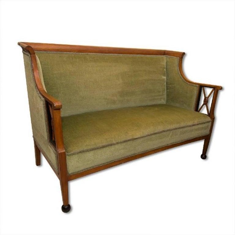 Early 19th Century Antique Biedermeier Sofa, Austria For Sale 1