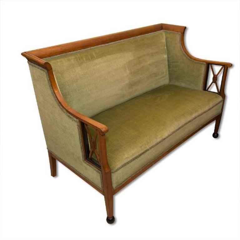 Early 19th Century Antique Biedermeier Sofa, Austria For Sale 2