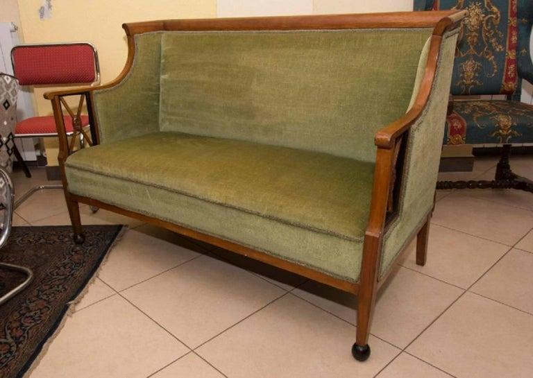 Early 19th Century Antique Biedermeier Sofa, Austria For Sale 3