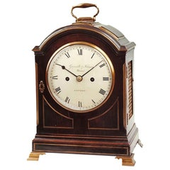 Early 19th Century Antique Bracket Clock by Grimalde & Johnson of London