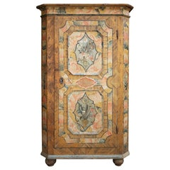 Early 19th Century Antique Floral Hand Painted Cabinet