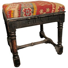 Early 19th Century Antique Russian Stool or Ottoman Pouf