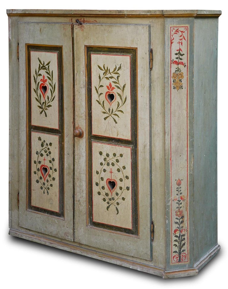 Tyrolean (Northern Italy) painted cabinet
