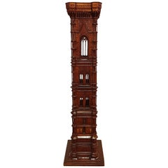 Early 19th Century Architects Wood Model of Giotto's Campanile in Florence