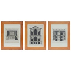 Early 19th Century Architectural Prints by Louis-Pierre Baltard de la Fresque