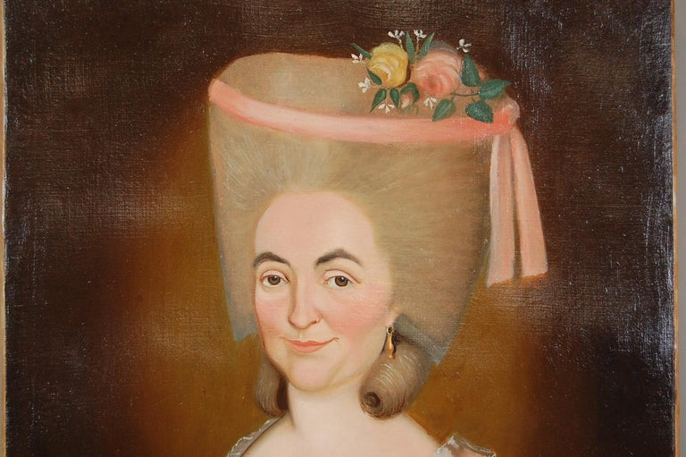 Early 19th Century Aristocratic Lady Oil Painting For Sale 2