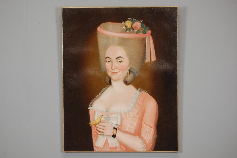 Early 19th Century Aristocratic Lady Oil Painting For Sale 3