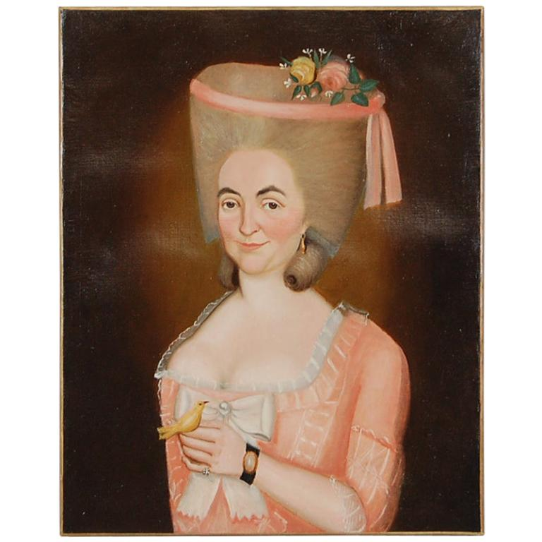Early 19th Century Aristocratic Lady Oil Painting For Sale