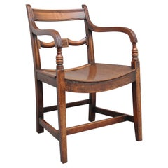 Early 19th Century Ash and Elm Armchair
