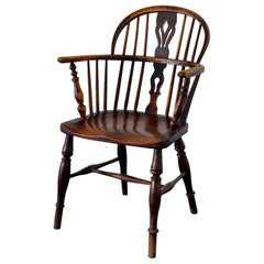 Early 19th Century Ash and Elm Windsor Back Chair