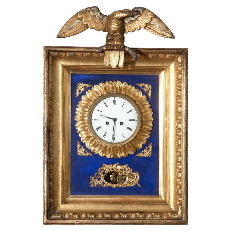 Early 19th Century Austrian Biedermeier Wall Clock For Sale