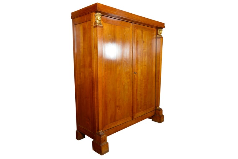 Early 19th century Baltic maple empire cupboard / cabinet For Sale 3