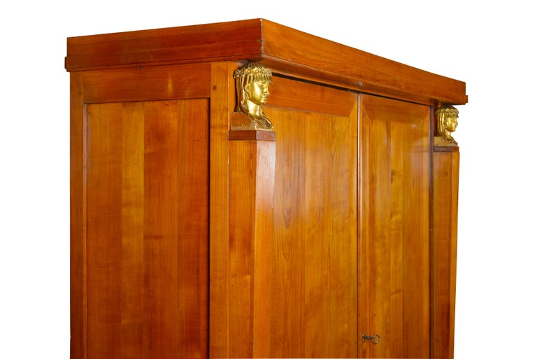 Early 19th century Baltic maple empire cupboard / cabinet For Sale 4
