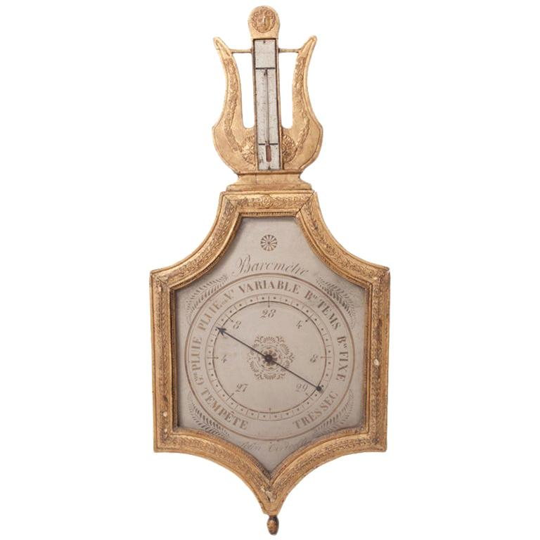 """Early 19th Century Barometer """"Selon Toricelli"""""""