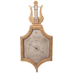 "Early 19th Century Barometer ""Selon Toricelli"""