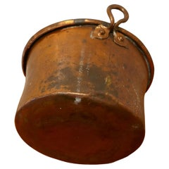 Early 19th Century Beaten Copper Cooking Pot, Cauldron