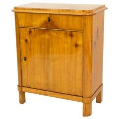 Early 19th Century Biedermeier Cherry One-Door Half Cabinet