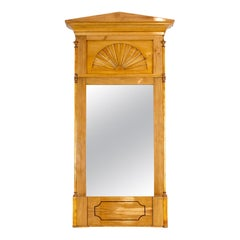 Early 19th Century, Biedermeier Pillar Mirror