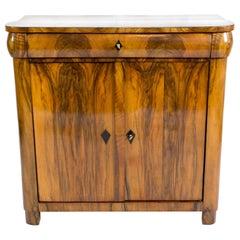 Early 19th Century Biedermeier Walnut Half Cabinet