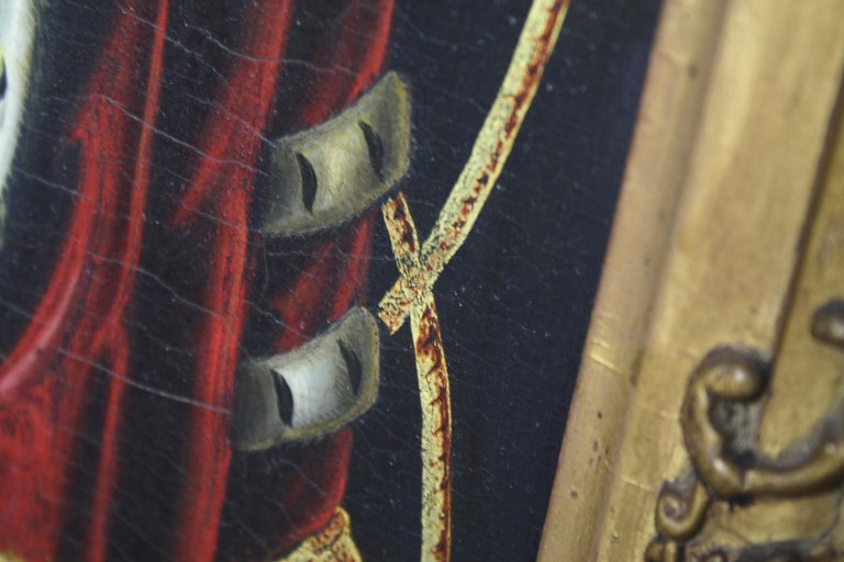 Early 19th Century Biggar Family Crest, Oil on Board Large Armorial Coach Panel For Sale 3