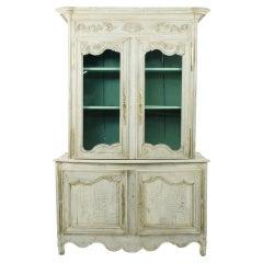 Early 19th Century Bleached Oak Vitrine Cupboard