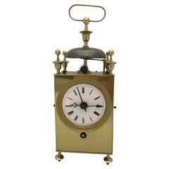 Early 19th Century Brass French Capucine Officers Clock