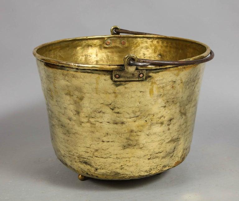 Early 19th Century Brass Log Bin For Sale 5