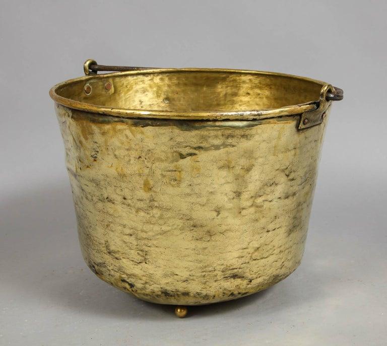 Early 19th Century Brass Log Bin For Sale 6