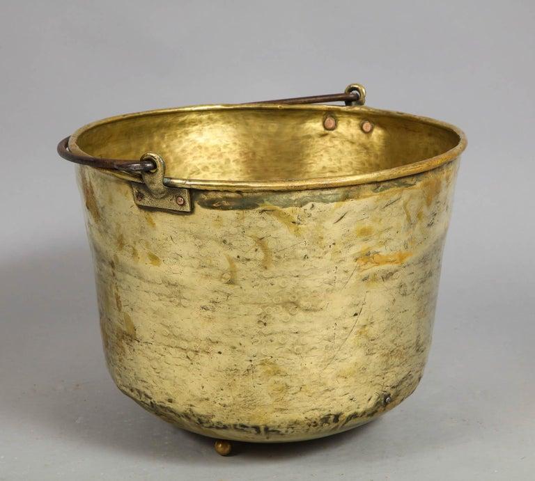 Early 19th Century Brass Log Bin For Sale 8